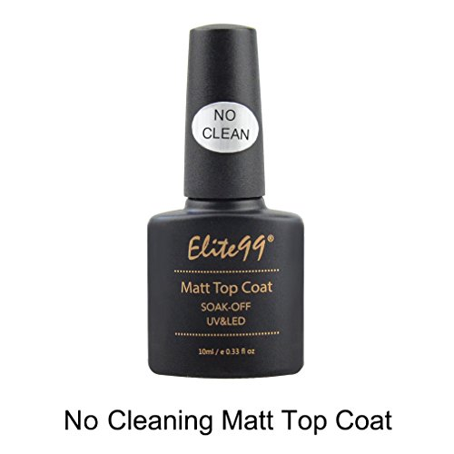 Elite99 No Clean Matt Top Coat Shiny UV LED Soak Off Nail Gel Polish Sealer Manicure Lacquer Nail Art (Shiny Matt)