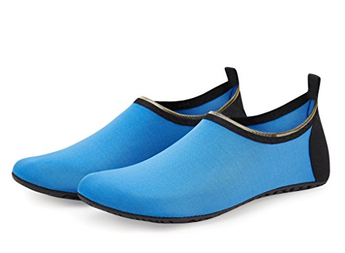 blue Quick Socks Shoes Swim LEKUNI Yoga Shoes Skin Pool Kids Barefoot Water Surf Womens Mens for Aerobics Dry Aqua Beach LK Shoes Tkc B8q6vwSS