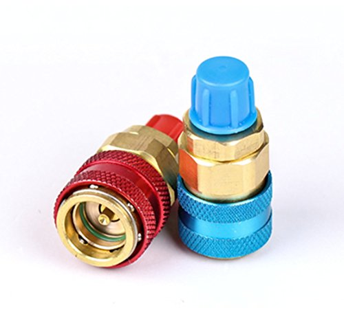 OnRoad R134a Car Air Conditioning Adapter Fittings Quick Change Coupler  Connector High Low Side A/C Freon Manifold Gauge Hose Conversion Kit 1/2  ACME