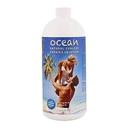 1 Quart of Ocean Professional Natural Sunless Tanning Solution (Medium Bronzer 8% DHA)