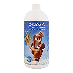 1 Quart of Ocean Professional Salon Sunless Tanning Solution with 8.5% DHA and Dark Bronzer Color Guide