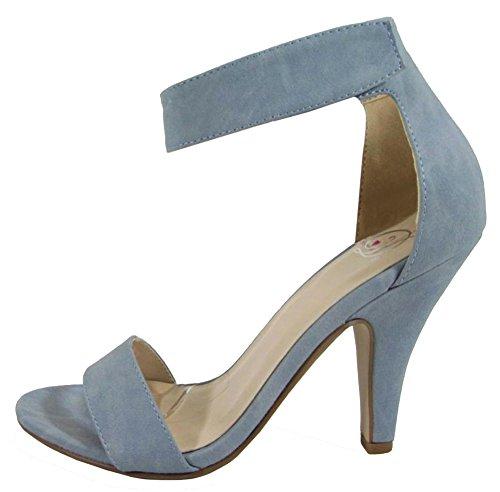 Delicioso Soda Mujeres Rosela Formal Dress Sandal Pale Blue