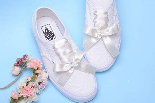 Wedding Trainers For Bride, Lace Bridal Sneakers, Handmade Bride Tennis Shoes -