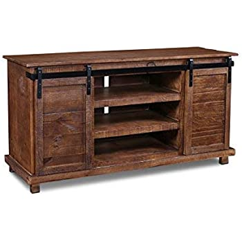 Amazon Com Westgate Rustic Brown 66 Sliding Barn Door Tv Stand