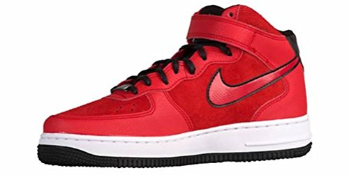 Nike Women's Air Force 1 '07 Mid Suede Red/Black/White 807448-600 (SIZE: 6)