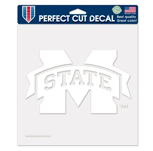 Wincraft NCAA Mississippi State Bulldogs 8x8 Inch White Perfect-Cut Decal ()