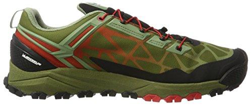 SALEWA Multi Track Gore-Tex, Scarpe da Arrampicata Basse Uomo Verde (Oil Green/Fluo Coral 5870)