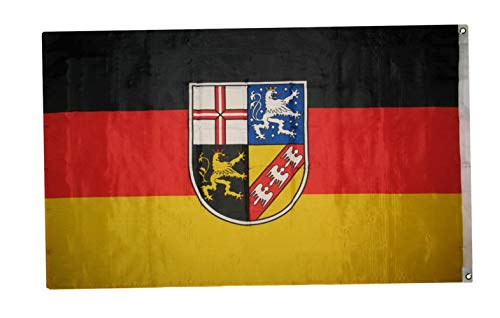 State Coat Of Arms - Hebel Saarland Flag 3x5 ft Germany German Federal State Coat of Arms SaarbrГјcken SAAR | Model FLG - 1940