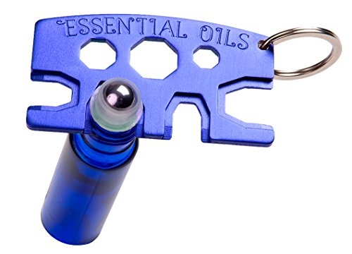 Decorative Essential Oil Roller Bottle Opener - 1 METAL Blue Key Tool - Re-use Your Roller Bottles! Stronger Than Plastic And Will Last Forever - Opens 5-30ml Bottles - Essential - Outlet Store Miu Miu