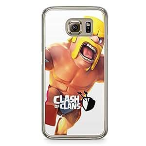 Clash of Clans Samsung Galaxy S6 Transparent Edge Case - Barbarian Leap