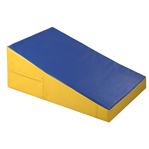 Blue and Yellow Tumbling Incline Gymnastics Mat Large Exercise Ramp Gym Slope - Short The Hills Mall At