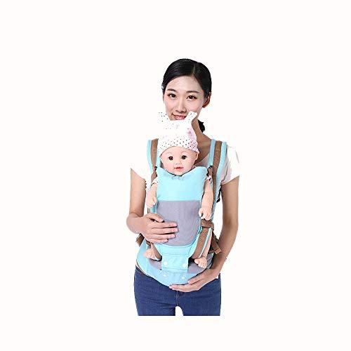 Cabestrillo Para Bebé Taburete Cuatro Estaciones Multifuncional Asiento  Infantil Abrazo Artefacto Bebé (Color   Azul fe80c7329834