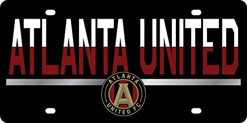 Atlanta United FC DUO TONE Premium Laser Tag Acrylic Cut Inlaid License Plate Soccer Football Club