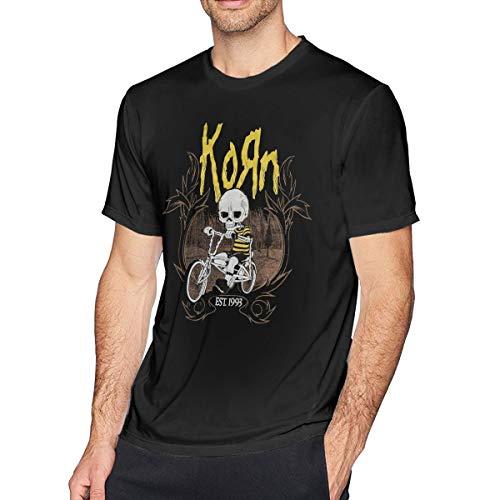 NeedLove Mens Fashion Korn T Shirt 3XL Black