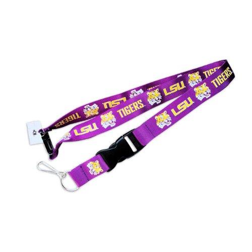 LSU Tigers Clip Lanyard Keychain Id Ticket Holder - ()