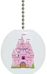Carolina Hardware and Decor 1827F Castle Fairytale Ceramic Fan Pull