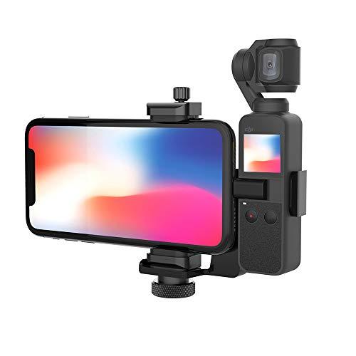 "Smatree OSMO Pocket Phone Holder Set Expansion Accessories with 1/4""Thread Screw Compatible with DJI OSMO Pocket 2/ DJI OSMO Pocket and Smartphone"