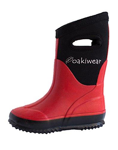 Red Rain Rain Snow Neoprene Boots Muck Boots Boots Oakiwear Children's vxn0qZvz