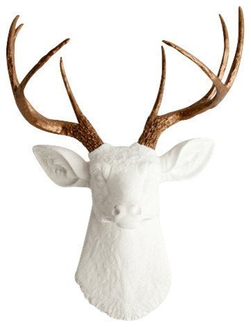 Amazon.com: White Faux Taxidermy The Lydia White Deer Head with ...