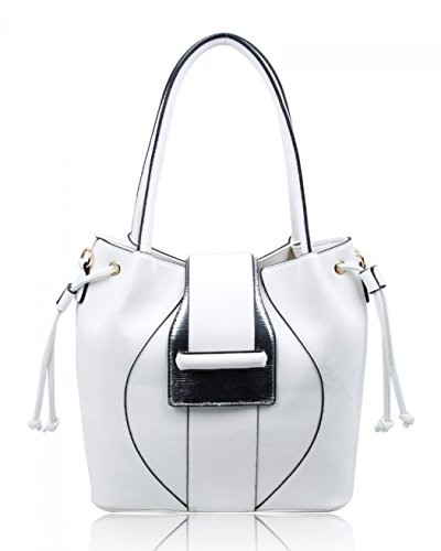 Cw160972 Leahward Women's Casual White cream Shoulder Fashion Bags Large Handbags Ladies Tote Work rvxqwTAr