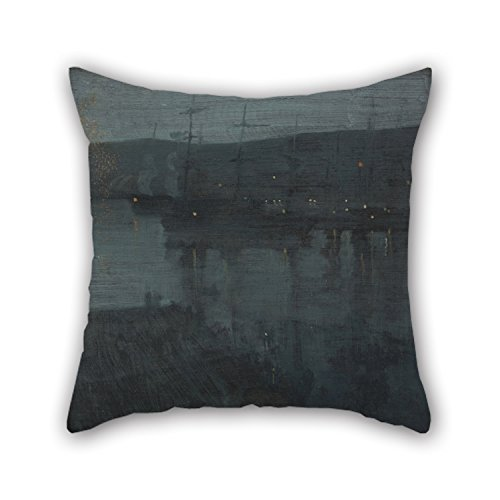 Loveloveu 18 X 18 Inches / 45 By 45 Cm Oil Painting James McNeill Whistler - Nocturne In Blue And Gold- Valparaiso Cushion Covers,2 Sides Is Fit For Boys,kids,car,teens Boys,kids - Nocturne Bedroom