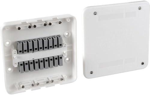 Surewire SW2L - Caja de conexiones eléctricas con interruptor y luz precableada (16 A, 2 vías): Amazon.es: Bricolaje y herramientas