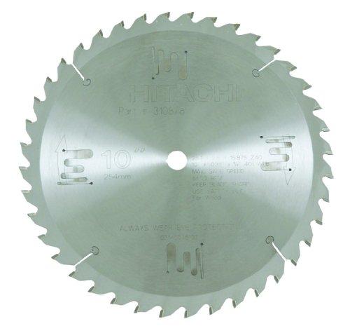 Hitachi 310878 40-Teeth Tungsten Carbine Tipped 10-Inch ATB 5/8-Inch Arbor Finish Saw Blade ()