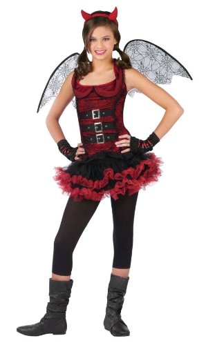 [Night Wing Devil Red Costume Child Large 12-14] (Red Devil Child Costume)