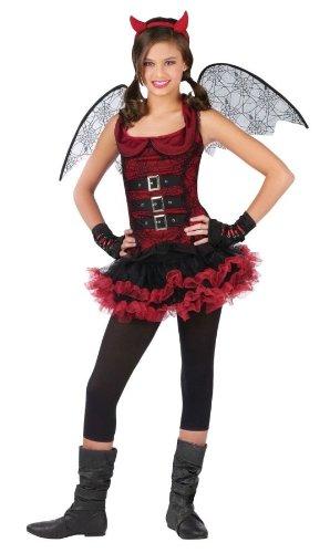 Night Wing Devil Red Costume Child Large 12-14 (Girl Devil Costume)