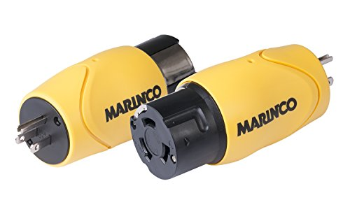 Marinco One Piece Adapter with a 15 Amp/125V Straight Blade Connector