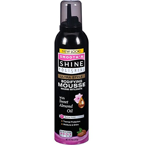 Smooth 'N Shine Ultra Style Bodifying Mousse, Extra Hold, 9 OZ