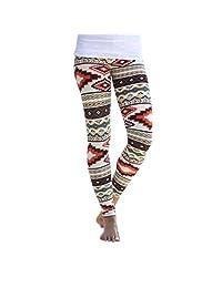 ABC® Pants, Leggings, Womens Stretchy Geometric Print Skinny Pants Leggings