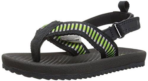 OshKosh B'Gosh Orville Boy's Flip Flop Sandal, Black, 9 M US