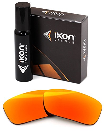Polarized Ikon Iridium Replacement Lenses for Oakley Crankcase Sunglasses - Fire Orange - Iridium Oakley Fire Polarized