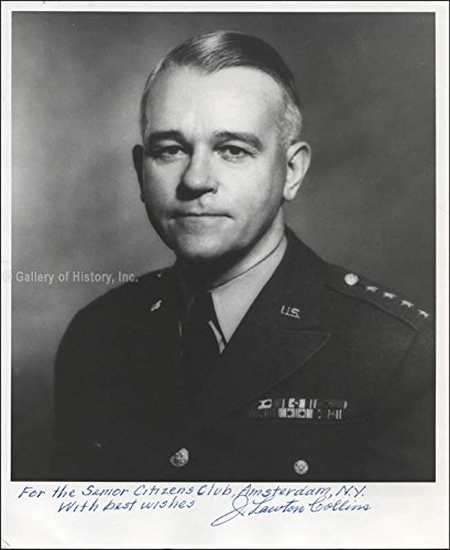 General J. Lawton Collins Inscribed Photograph Signed