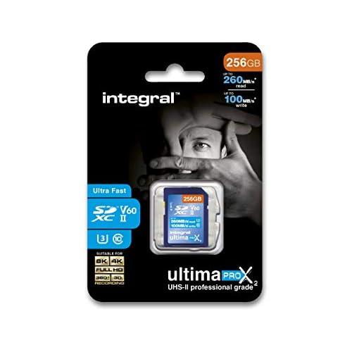chollos oferta descuentos barato Integral INSDX256G 280 100U2 256GB SDXC UHS II Memoria Flash Tarjeta de Memoria 256 GB SDXC UHS II 280 MB s