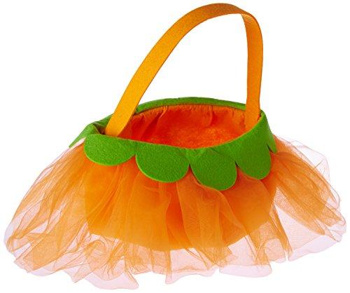 Mud Pie Tulle Pumpkin Candy Bag, Orange