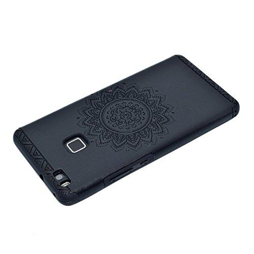 inShang Huawei P9 Lite,Ascend P9 Lite case Funda y Carcasa para Huawei P9 Lite case Huawei P9 Lite móvil, Ultra delgado y ligero Material de TPU, carcasa posterior (Back case) con , Black printing