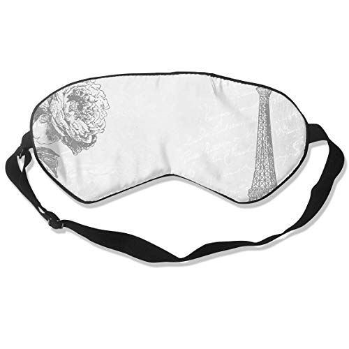 All agree Sleep Mask Printable Paris Clip Art Eye Mask Cover with Adjustable Strap Eyemask for Travel, Nap, Meditation, Blindfold -