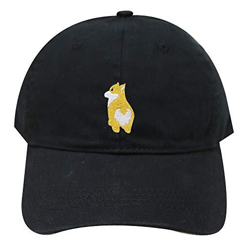 - City Hunter C104 Welsi Corgi Butt Cotton Baseball Caps - Black