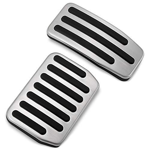 Chompoo Non-Slip Performance Foot Pedal Pads Auto Aluminum Pedal Covers Fit Tesla Model 3