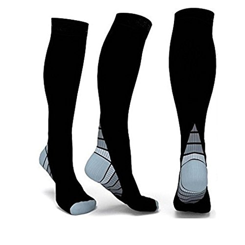 Men Women Socks,kaifongfu Compression Socks Athletic Fit for Running Socks Travel Boost Stamina
