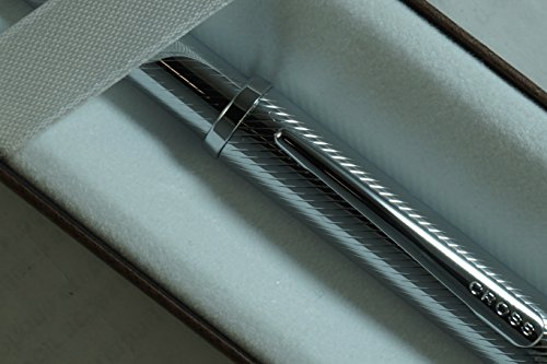 (Cross Century II Art Deco Diamond Cut Cap and Barrel Ballpoint Pen. A Great Corporate and Personal Gift. )