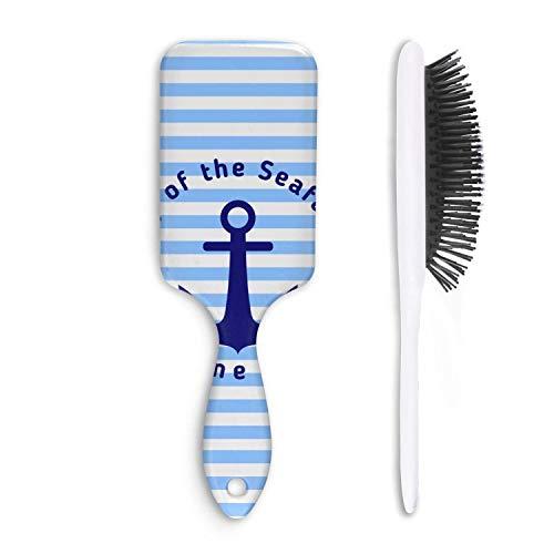 - Unisex Moromly Hair Brush Day Of The Seafarer Anchor Blue Stripes Boar Bristle Paddle Hairbrush For Long Dry Or Wet Hair