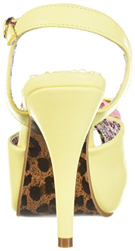 Bettie Page Women's Bp412-Vixen Heeled Sandal Yellow yBbWUAh