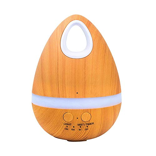 Multi-diffuser diffuser difussers Humidifier Humidifiers cooler vaporiser Wood grain egg mini seven-color night light home office air purification small yellow by Multi-diffuser