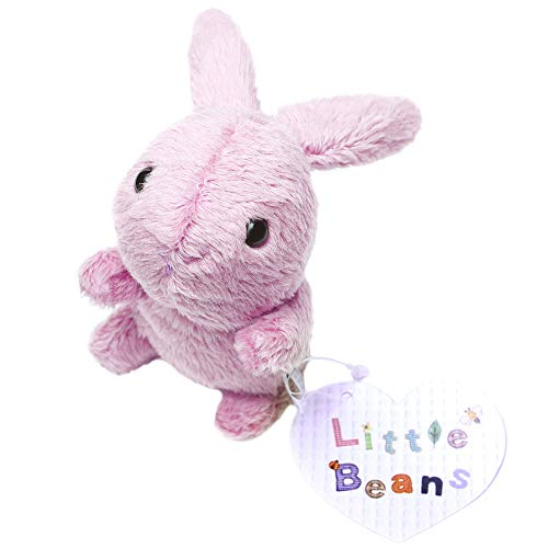 Stuffed Animal Plush Toy - Little Beans Stuffed Rabbit - Hand-Size Bunny for Kids - 6 Available Colors - Lovely Design - For Boys & Girls - 100% Safe and Easy to Clean - Great for Birthdays (Pink)]()