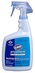 Clorox 01698 Anywhere Hard Surface Sanitizing Spray, 32 fl oz Bottle