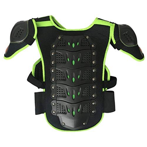 Toach Kids Motorcycle Armor Suit Dirt Bike Chest Spine Protector Back Shoulder Arm Elbow Knee Protector Motocross Racing Skiing Skating Body Armor Vest Sports Safety Pads 3 Colors by Toach (Image #2)
