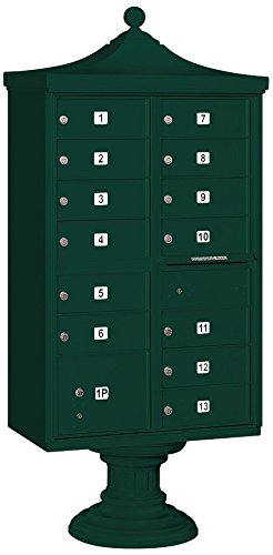 Salsbury Industries 3313r-grn-p Regency Decorative CBU CBU、台座付き、CBUトップ、台座カバーとマスターロック、13 Bサイズドア、タイプIV、プライベートアクセス、グリーン B005EYSNOW